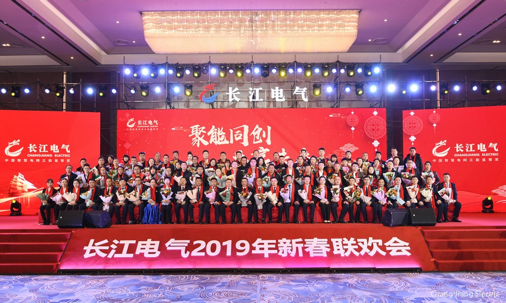 Looking forward to the long-term power of 2025 million people to enter the 20 billion goal - warm congratulations to the Changjiang Electric New Year party successfully held